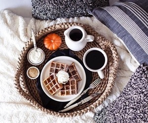 autumn, food, and waffles image
