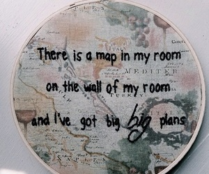 map, quotes, and grunge image
