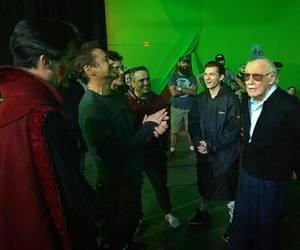 Avengers, rdj, and spiderman image