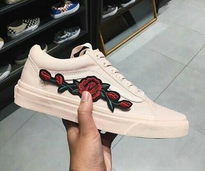 shoes, fashion, and roses image