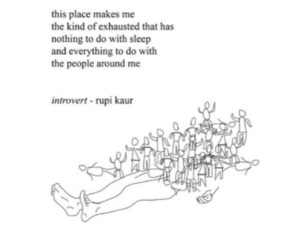 quotes, introvert, and poem image