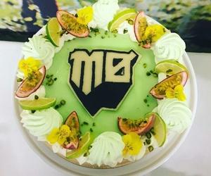 birthday, friuts, and cake image