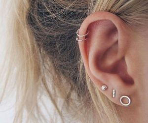 accessory, girl, and ear piercing image