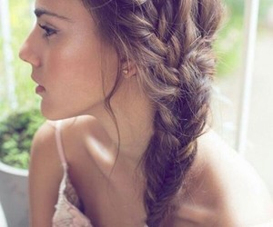 beautiful, beauty, and braided image