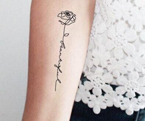 tattoo, rose, and tatto image