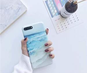 case, iphone, and sea image