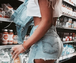 jeans, denim, and hair image