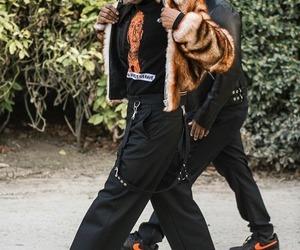 asap rocky, fashion, and fur image