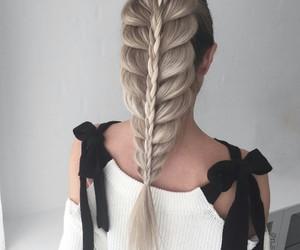 braid, beautiful, and hair image