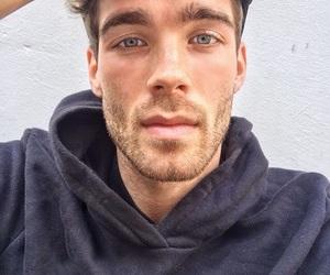 beard, black, and blue eyes image