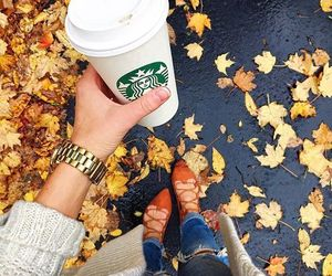 accessories, coffee, and fall image