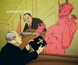 satan, funny, and bible image