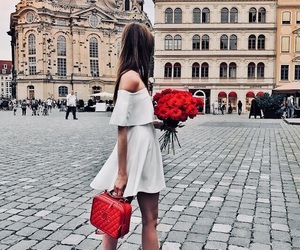 bag, city, and flowers image