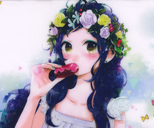 beignets, kawaii, and manga image