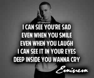 eminem, sad, and quotes image