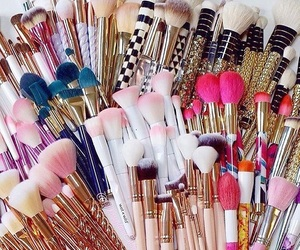 chic, makeup, and pink image