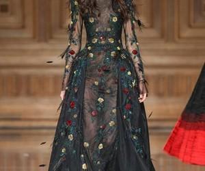 dress, fashion, and runway image