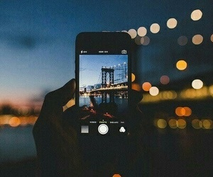 light, iphone, and city image