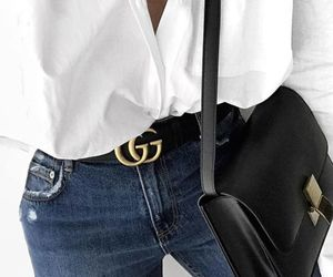 gucci, jeans, and bag image