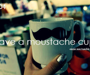 moustache, text, and tumblr image