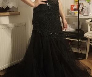 beautiful, black, and prom dress image