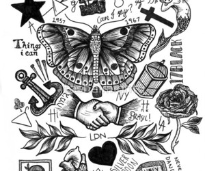 tattoo, draw, and Harry Styles image