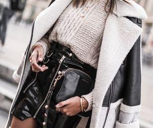 coat, fashion, and bag image