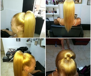 hair, ponytail, and perfecthair image