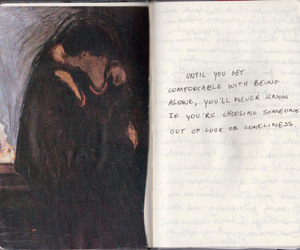 quotes, art, and loneliness image