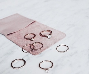 rings, accessories, and pink image