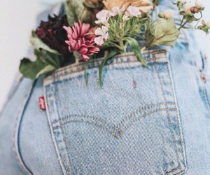 flowers and denim image