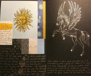 drawing, journal, and painting image