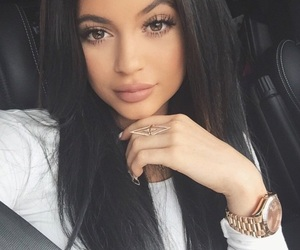 long hair, style, and makeup image