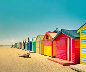 beach, photography, and Houses image