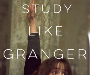 study, harry potter, and granger image