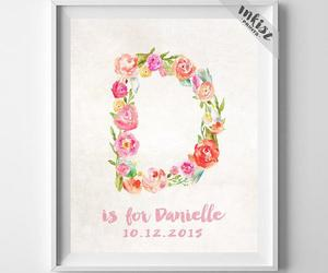customized, initial, and wallart image