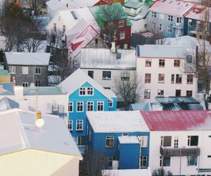 house, city, and iceland image