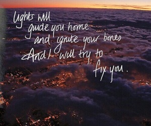 coldplay, fix you, and light image