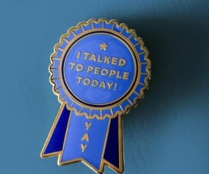 blue ribbon, people, and pin image