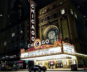 autumn, chicago, and lights image