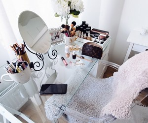 dressing, interior, and make up image