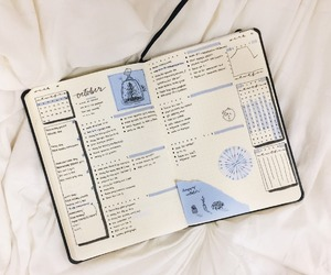aesthetic, study, and bullet journal image