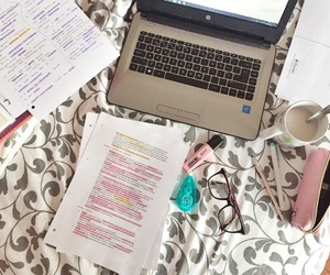 laptop, note, and school image
