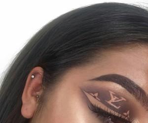 makeup, eyeshadow, and LV image