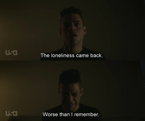 loneliness, rami malek, and mr robot image
