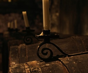 barrels, brown, and candle image