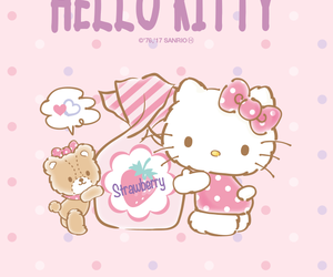 cat, friend, and hello kitty image