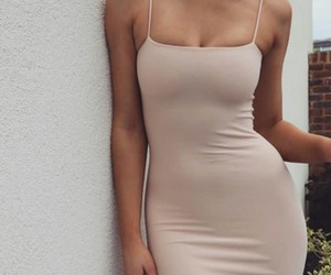 beige, girl, and thick image