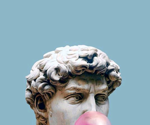 aesthetic, sculpture, and vaporwave image