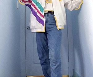 fashion, 90s, and jeans image